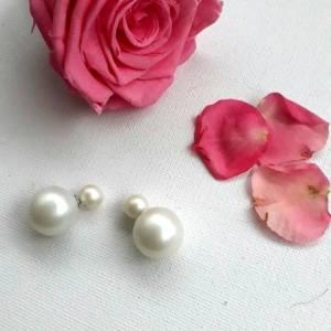 boucle d'oreille double perle
